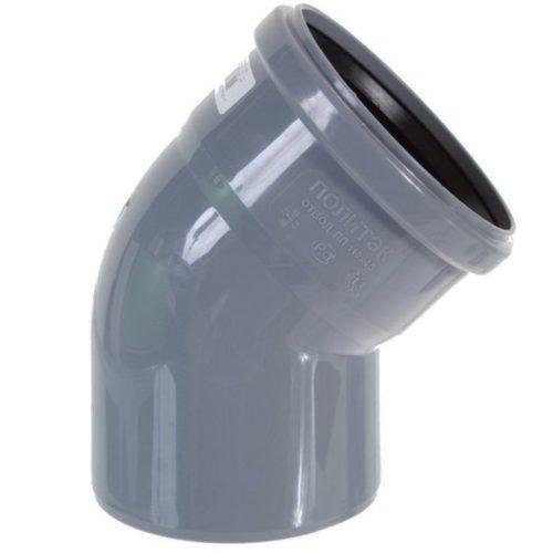 Отвод полипропиленовый 110х45