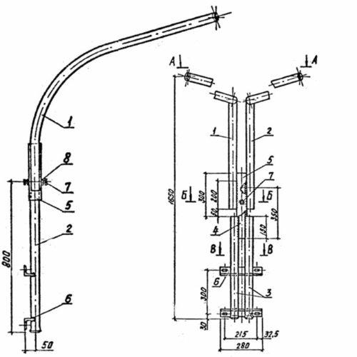 Кронштейн светильника КС-3