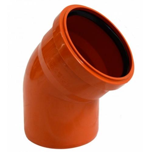 Отвод полипропиленовый 110х45 для наружной канализации
