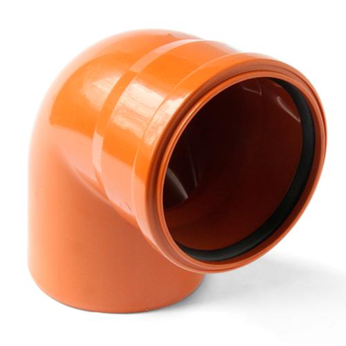 Отвод полипропиленовый 110х90 для наружной канализации