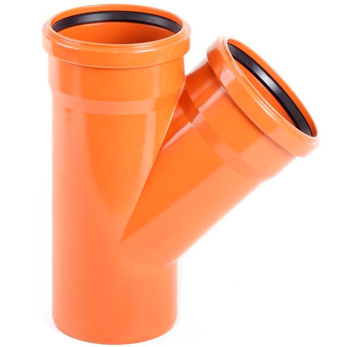 trojnik-polipropilenovyj-110h110h45-dlya-naruzhnoj-kanalizatsii