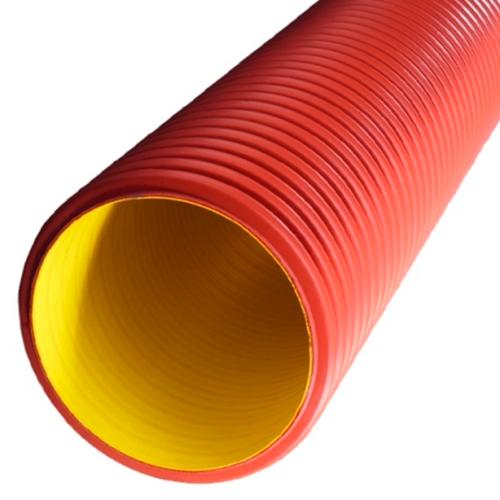 Труба гофрированная двустенная жесткая 125 мм