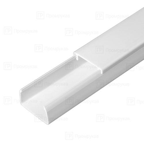 Кабель-канал белый двойной замок 25х16 упаковка 80 м. картон