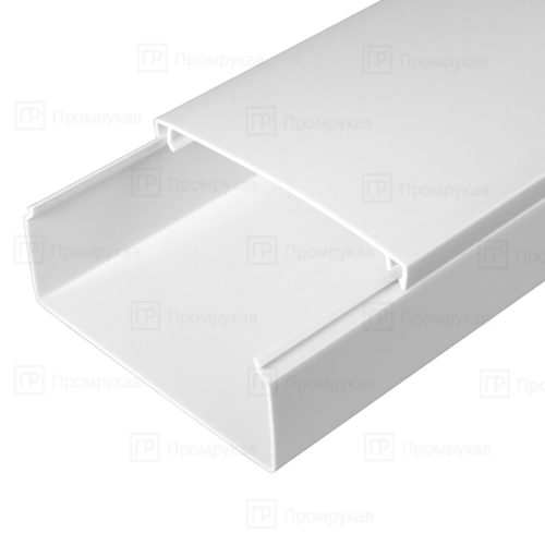 Кабель-канал белый двойной замок 100х40 упаковка 8 м. П/Э