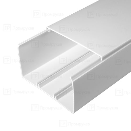 Кабель-канал белый двойной замок 100х60 упаковка 8 м. П/Э