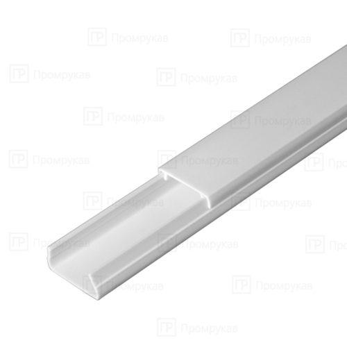 Кабель-канал белый двойной замок 20х10 упаковка 180 м. П/Э